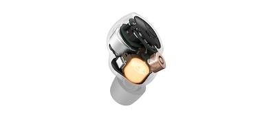 Εικόνα διατομής των ακουστικών WF-1000XM4 που δείχνει τη νέα μονάδα οδήγησης 6mm στο εσωτερικό