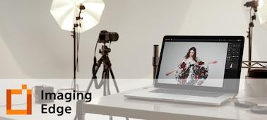 Εικόνα αναπαράστασης ενός στούντιο με το λογότυπο του Imaging Edge Desktop