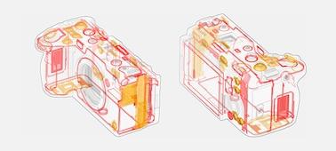 Εικόνα της κατασκευής με μέρη στεγανοποίησης