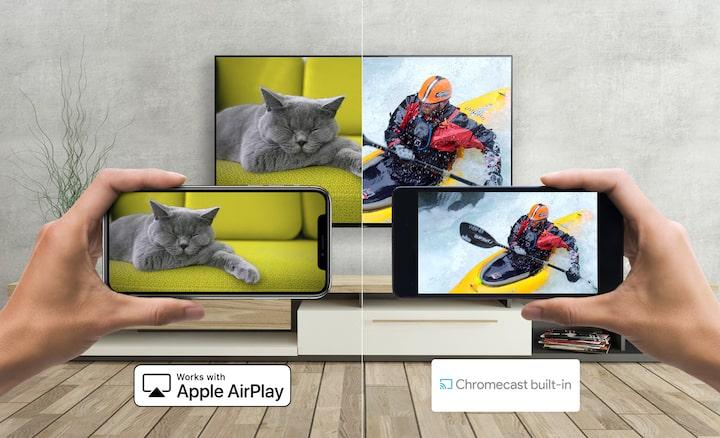 Android και smartphone προβάλλουν περιεχόμενο σε τηλεόραση Sony με Apple AirPlay και Chromecast