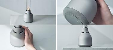 Τέσσερις όψεις του ηχείου για κρυστάλλινο ήχο Sony LSPX-S3, που δείχνουν το ηχείο από πολλές γωνίες.