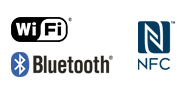 Λογότυπο WiFi NFC Bluetooth®